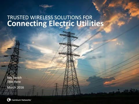 Electric Utilities Wireless Broadband Solutions webinar