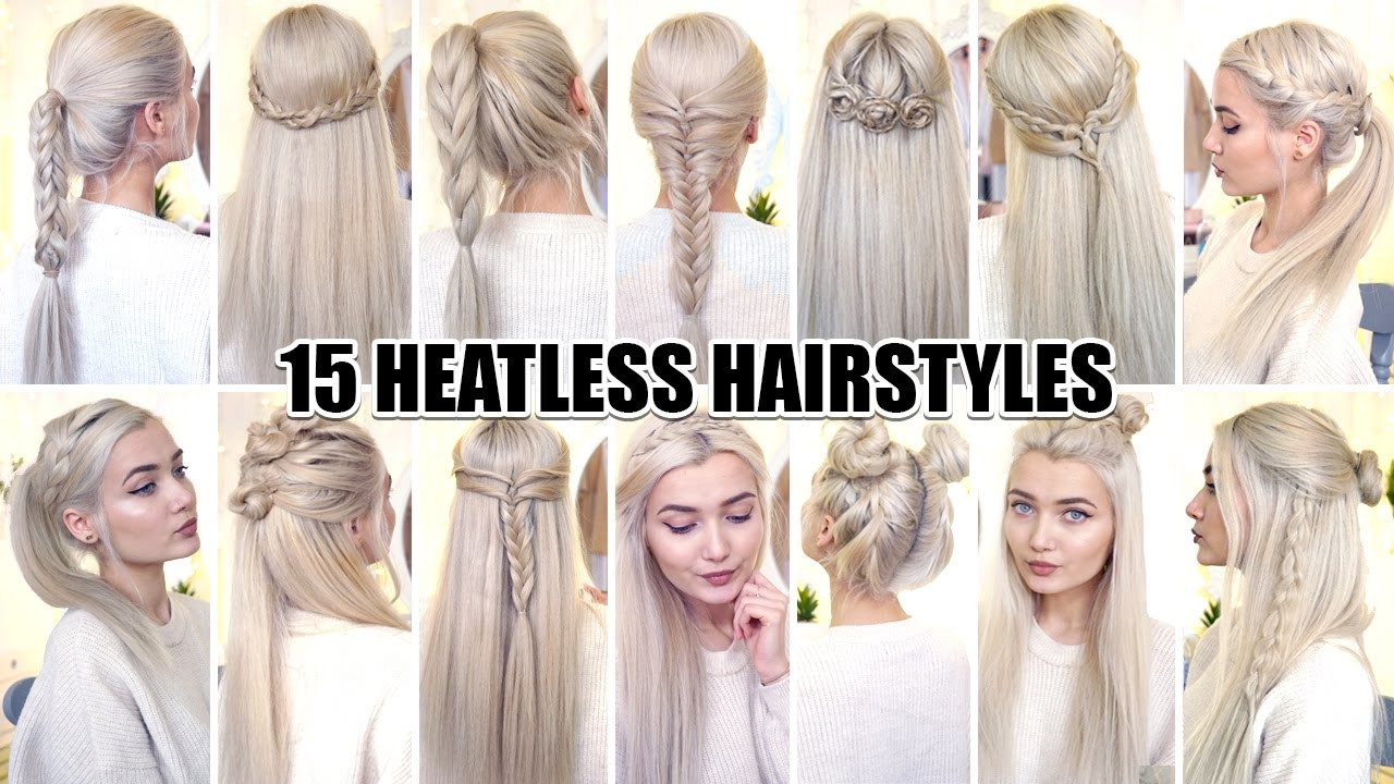 15 braided back to school heatless hairstyles!