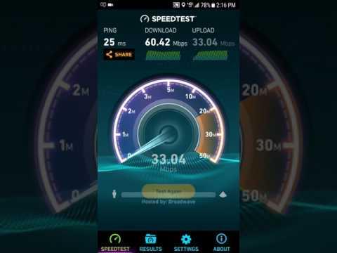 Verizon 4g lte speed test Miami