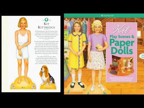 Paperdolls by American Girl Kit Caroline Molly Emily