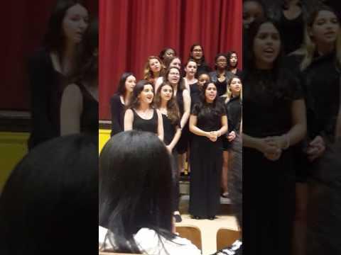 Tinatin Bliadze at James Madison High School choro concert.