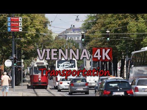 Ultra HD 4K Vienna Travel Austria Tourism Sight Transportation Vehicles Tram Bus Video Stock Footage