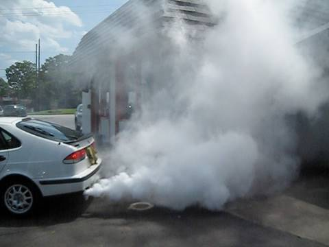 Blown Head Gasket Saab 9-3?!  Start Up With LOTS of Smoke