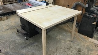 Folding Outfeed Table For Table Saw