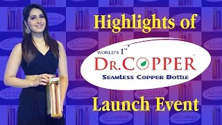 Highlights of Dr. Copper Water Bottle Launch