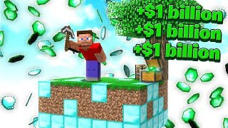 I Made The RICHEST Skyblock ISLAND! (Minecraft)