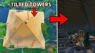 OMG LA PLUS GRANDE CONSTRUCTION DU MONDE SUR FORTNITE BATTLE ROYALE ON RECOUVRE TILTED TOWERS !