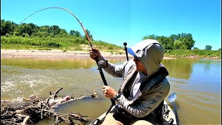 Fishing BIG Brushpiles for MONSTER FISH!! (2 Day River Float)