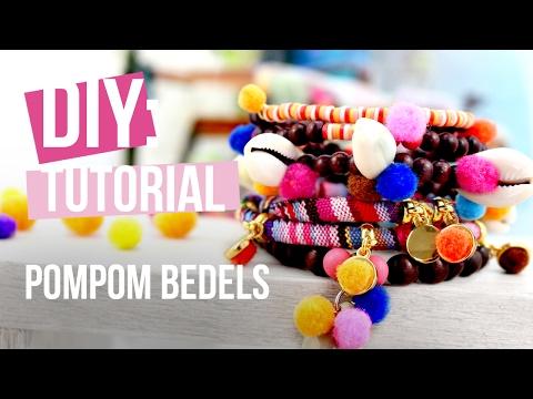 Sieraden maken: Pompom bedels ♡ DIY