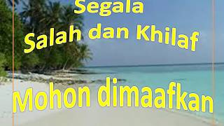 Selamat Hari Raya Idul Fitri / Mohon Maaf Lahir dan Batin