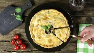 Как приготовить итальянский макаронный пирог с грибами | Простой рецепт