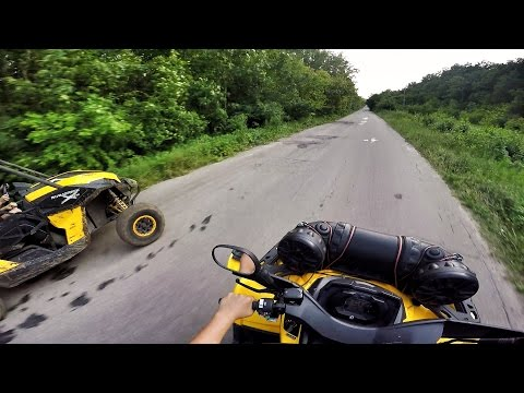 Can-Am Maverick 1000 VS Can-Am Outlander 650 MAX XT (Eco/Sport) | Drag-Race | GoPro | Квадроциклы
