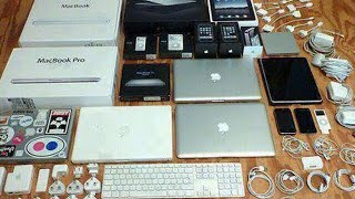 RICH FRIEND FROM SCHOOL GIVES ME HUGE LOT OF APPLE STUFF!!