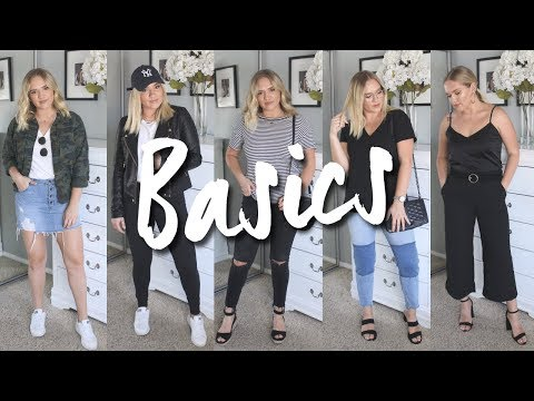 HOW TO STYLE: BASIC AFFORDABLE PIECES! 5 OUTFITS / TRULY JAMIE