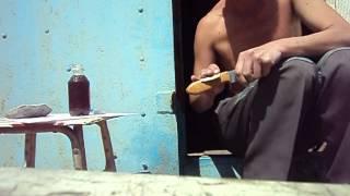 Пропитка красного дерева  Рукоять для ножа Воевода  ВАП ножи Чувашии(, 2015-07-10T14:37:36.000Z)