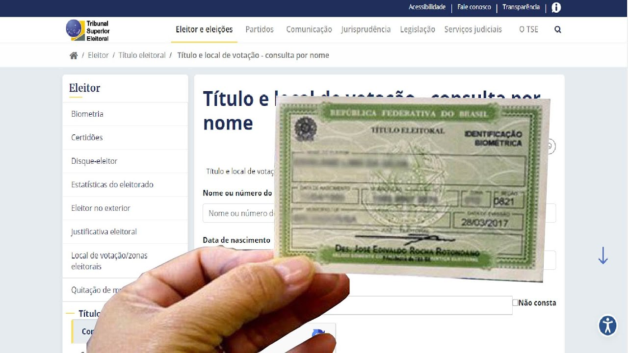 COMO DESCOBRIR O NÚMERO DO TÍTULO DE ELEITOR E LOCAL DE VOTAÇÃO ATUALIZADO 2020