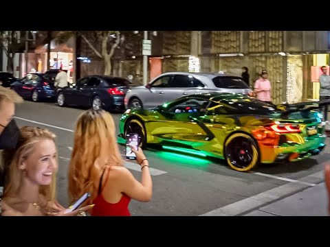 SUPERCARS DRAG RACE ON RODEO DRIVE!  $12,000 Exhaust is Back!