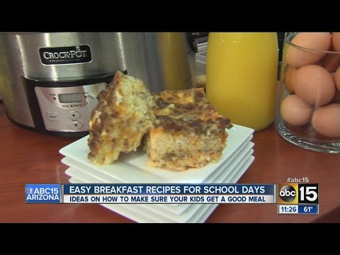 Easy breakfast recipes for busy school mornings