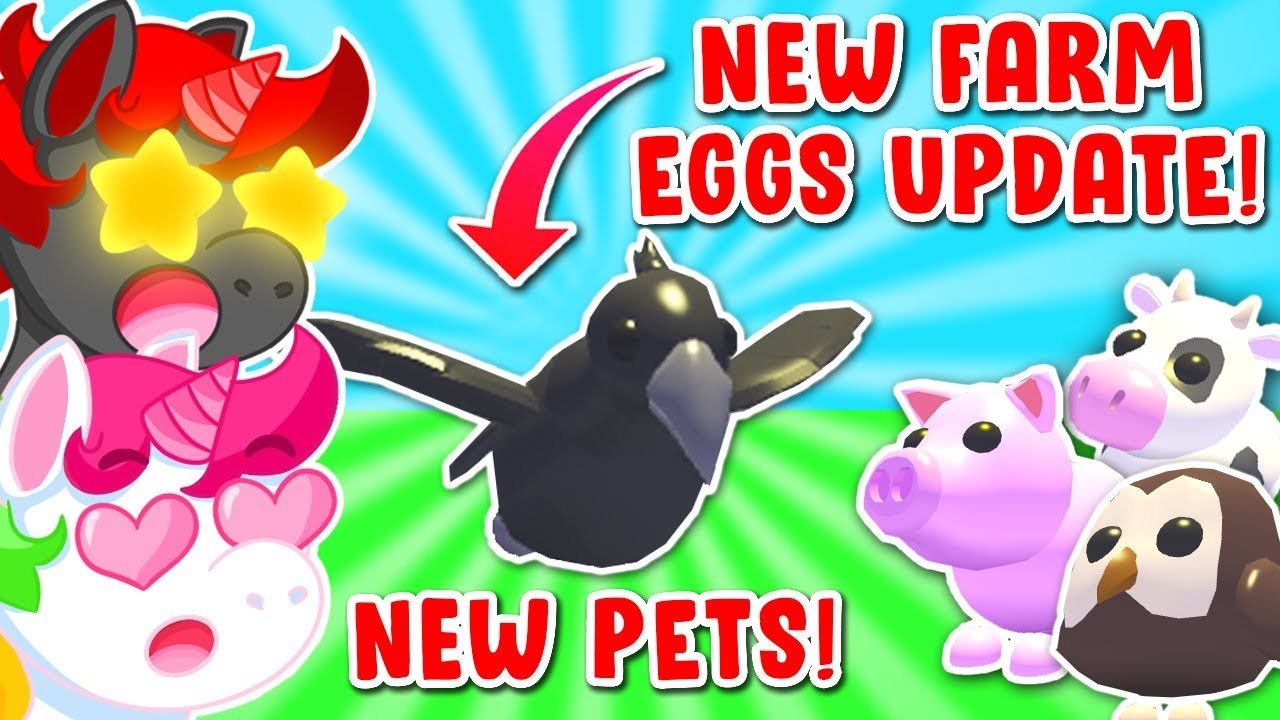 New Legendary Pets In Adopt Me New Farm Eggs Update Roblox Youtube