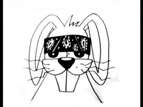 How To Draw A Cholo Rabbit (Gangsta Bunny)