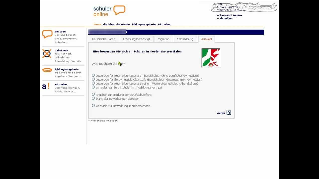 schleronline bewerbungsstatus abfragen zusage absage schleranmeldung - Bewerbung Zusage