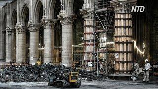 Стены собора Парижской Богоматери снова укрепляют