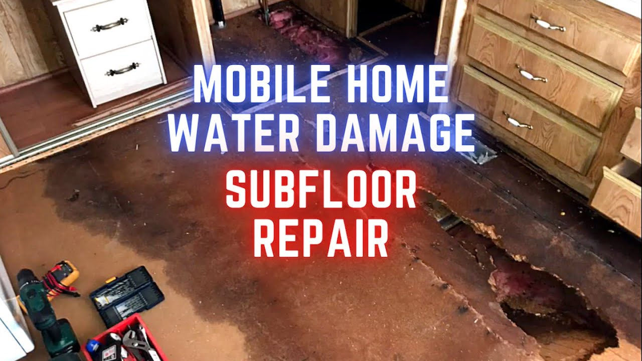 Mobile Home Floor Repair Water Damage Replacing Subfloor Part 3