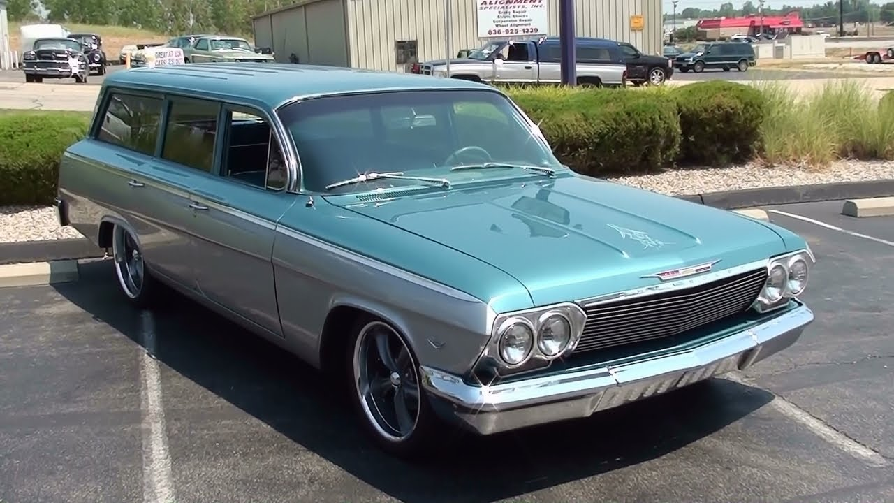 Test Driving 1962 Chevrolet Bel Air Wagon Restomod 327 V8 Air Ride ...