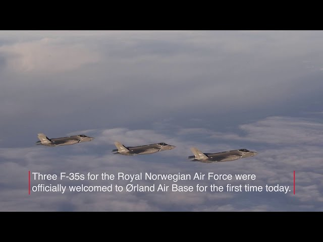 F-35 Official Arrival at Ørland Air Base