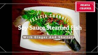 Keto Diet Soy Sauce Steamed Fish W Ginger & Shallot Recipe / Ikan Stim Soya Resepi / 姜葱酱油清蒸鱼食谱