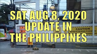 Sat Aug 8, 2020 Update In The Philippines.