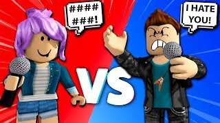 She DESTROYED Him in a RAP BATTLE So He Did THIS... Roblox Rap Battles #9