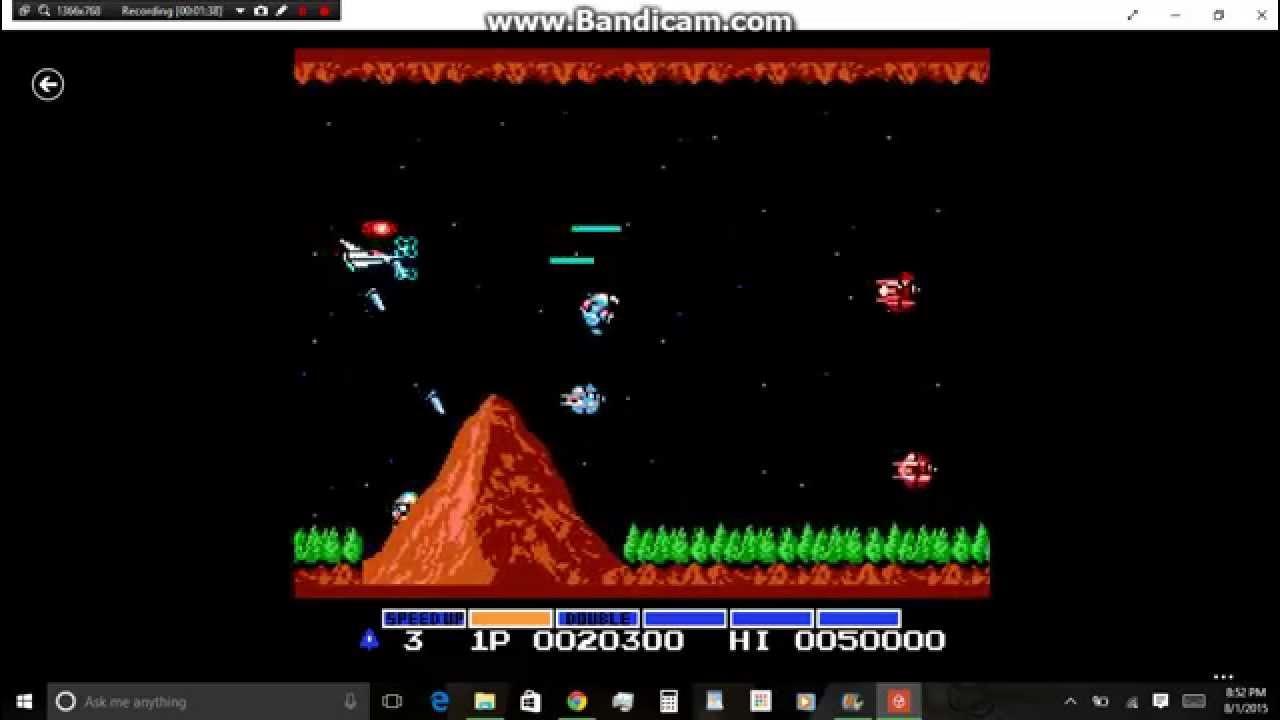 Using the Konami Code for Gradius 1 (NES)