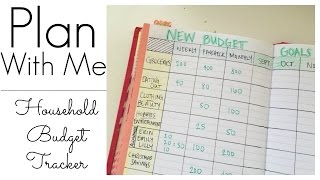 Tracking my Household Budget/ BUJO Layout
