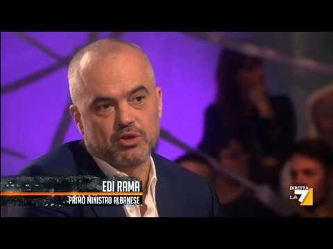 """Edi Rama e gli albanesi """"alla riscossa"""" di Saviano"""