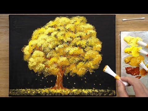 Easy Acrylic Painting Technique for Beginners - 'Childhood'