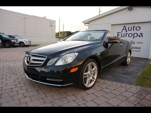 2013 Mercedes-Benz E350 Convertible for sale by Auto Europa Naples - Review and Test Drive
