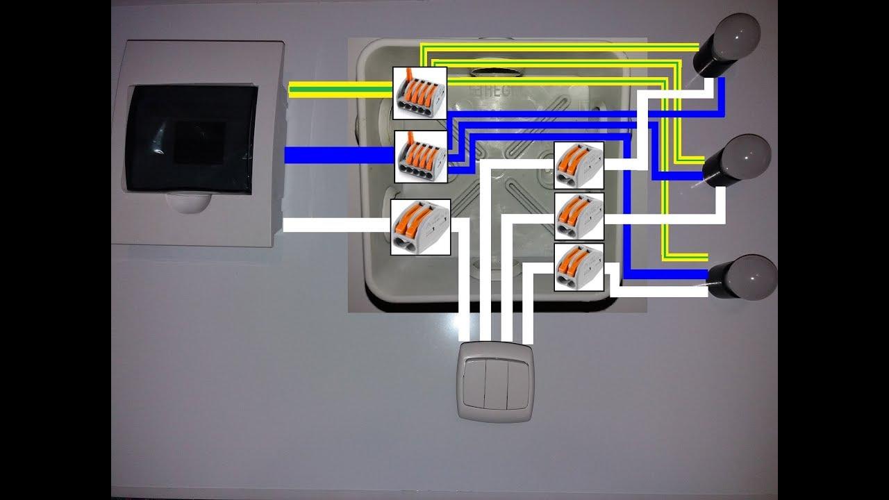 ✅Схема подключения трехклавишного выключателя своими руками