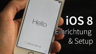 iOS8 installieren und einrichten - Erste Schritte