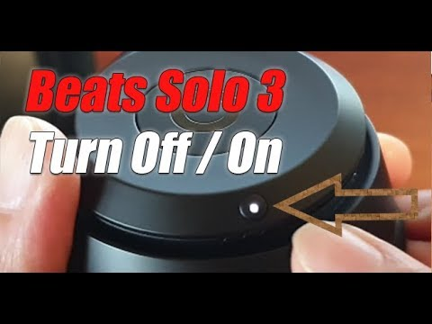 How To Turn Off / On Beats Solo 3 Wireless Headphone