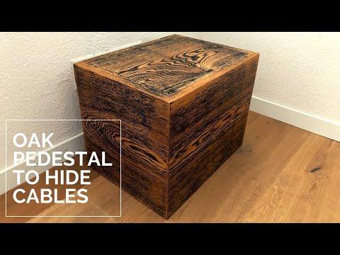 Pedestal to hide ugly TV cables - Oak