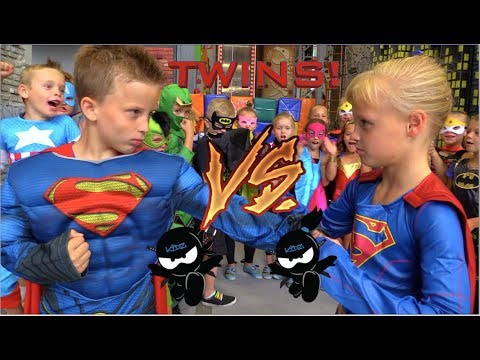 Thumbnail: BOYS vs GIRLS! Super Birthday Bash! Twin Ninja Kidz!