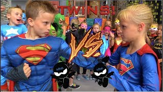 BOYS vs GIRLS! Super Birthday Bash! Twin Ninja Kidz! thumbnail