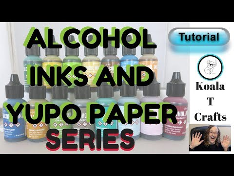 #6 Alcohol Inks and Yupo Paper Series:Making handmade cards!