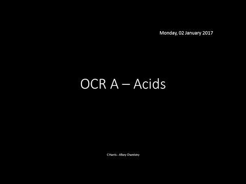 OCR A 2.1.4 Acids REVISION