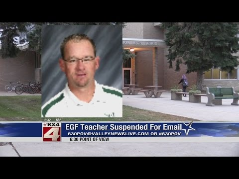 EGF Teacher Suspended Purportedly Over Email