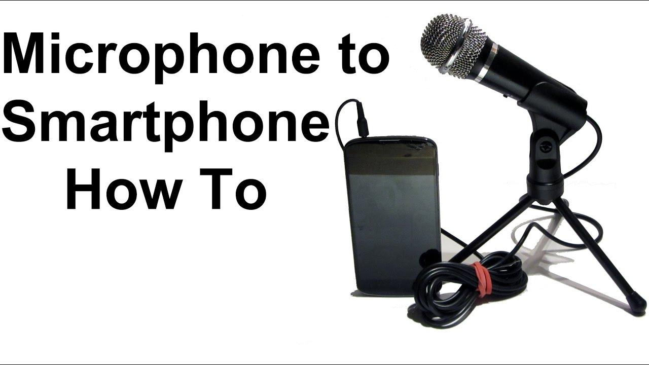 how to connect an external microphone to your smartphone youtube. Black Bedroom Furniture Sets. Home Design Ideas