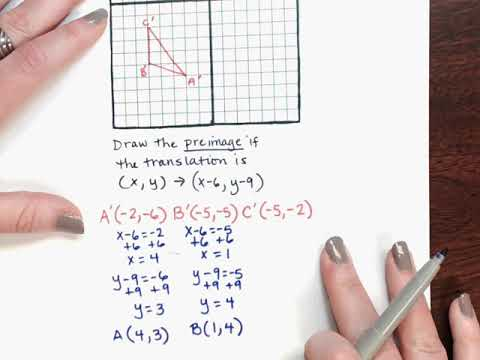 Vid 1 2 3 Draw The Preimage Of A Translation Youtube