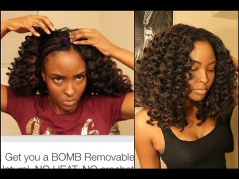 Crochet Braids Middle Part : Tutorial:NO crochet braids needed, Get you a BOMB Removable, Super ...