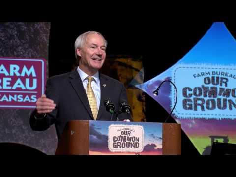 Governor Hutchinson at Arkansas Farm Bureau Annual Convention